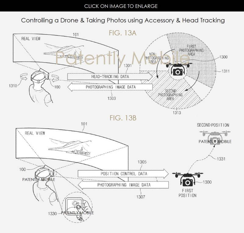 8AX 99 SAMSUNG FIGS 13A  B    GEAR VR NEXT GEN - PATENTLY MOBILE - JUNE 2017
