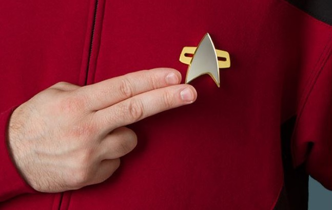 1AF X99 COMMUNICATOR BADGE STAR TREK