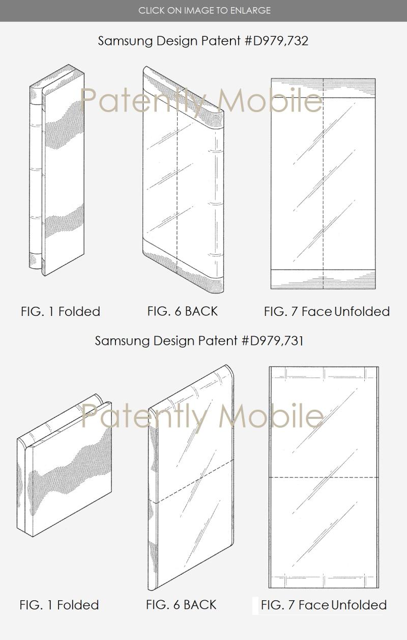 5AF SAMSUNG FOLDING PHONES TWO STYLES OF FOLDING - 2 DESIGN PATENTS SEPT 2017