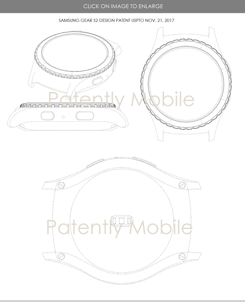 2 samsung granted design patent for Gear S2  Patently Mobile report nov 26  2017