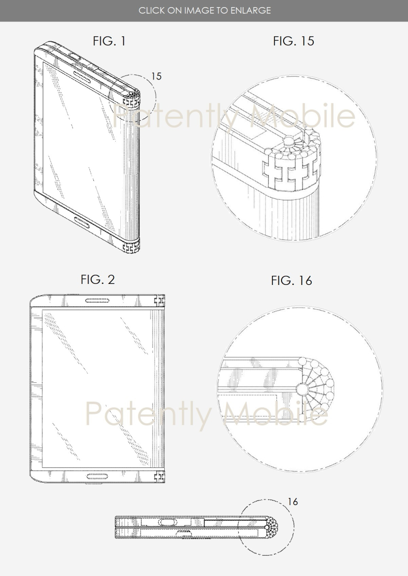 2 XX samsung granted patent for a foldable smartphone