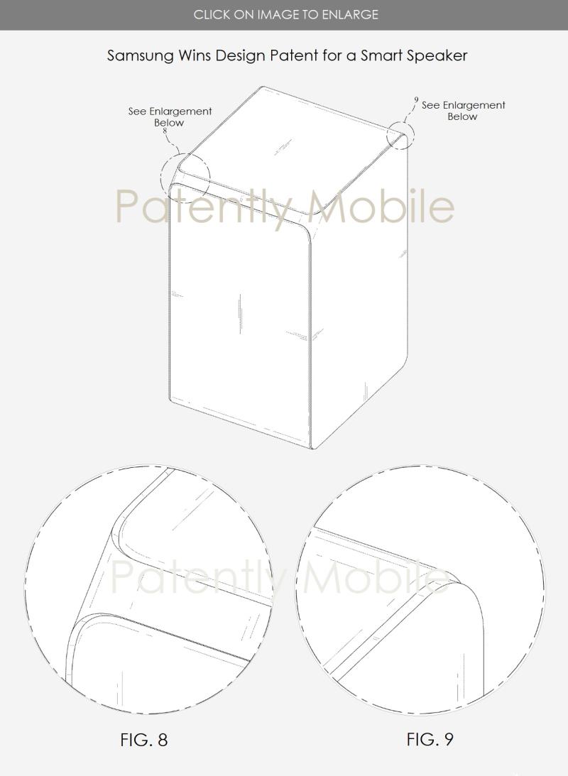 5 samsung smart speaker design patent along with AI speaker utility speaker