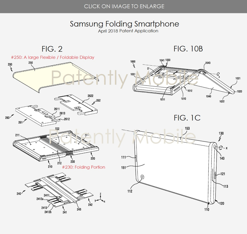 7 SAMSUNG PATENT APPLICATION APRIL 2018 FIGS 2  1C & 10B