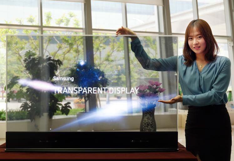 6 Samsung transparent tv display