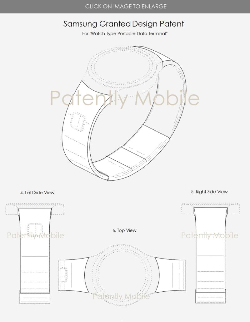 5 X samsung design patent for next-gen watch
