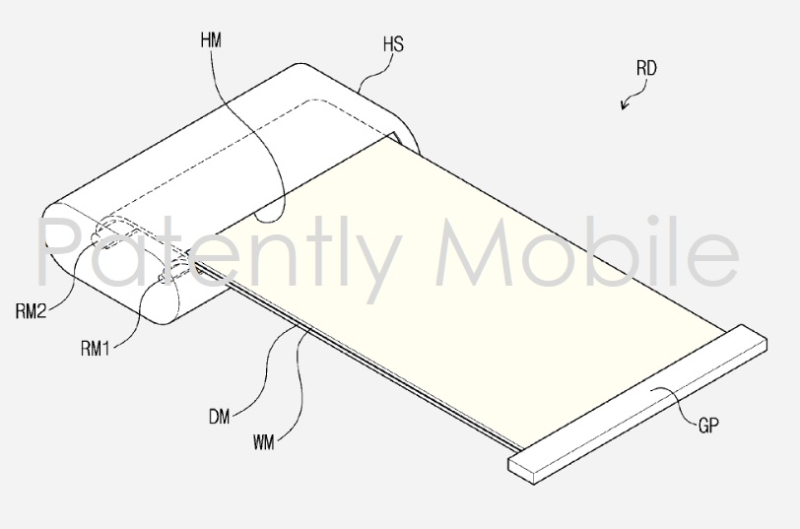 5 SAMSUNG PATENT APPLICATION FOR SCROLLABLE  ROLLABLE SMARTPHONE DEVICE