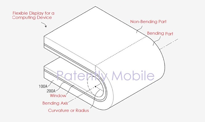 1 X Cover flexible  bendable display samsung patent  patently mobile