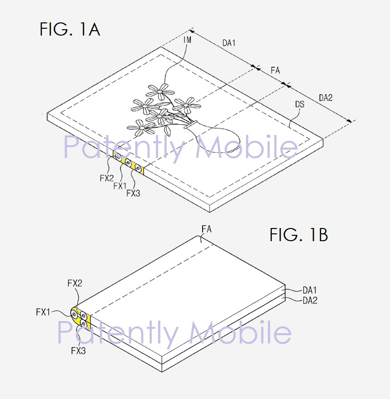 4 samsung patent granted 2018 foldable display device