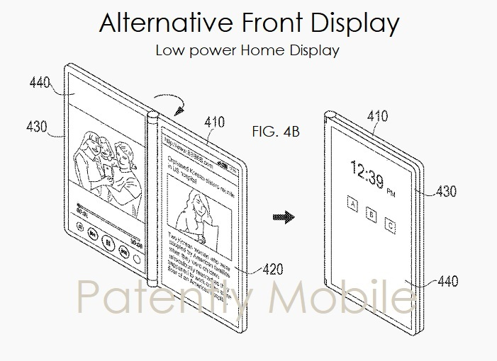 3 - Samsung foldable smartphone patent application figure  Nov 2018  Patently Mobile