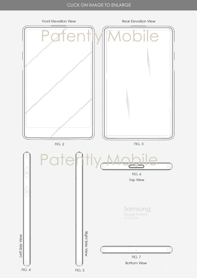 3 x samsung design patent july 2018 patently mobile