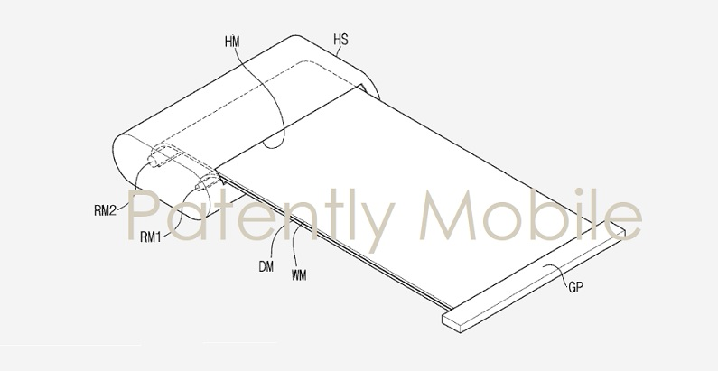 1 X COVER SAMSUNG SCROLLABLE  ROLLABLE DEVICE PATENTS GRANTED NOV 2018 - PATENTLY MOBILE REPORT