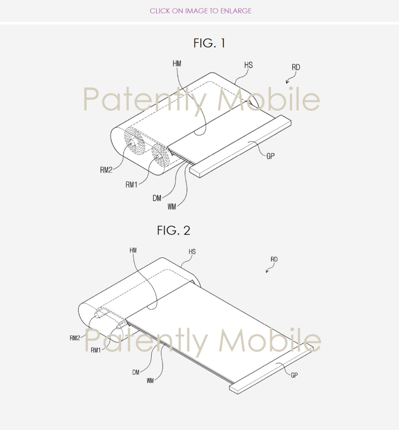 2 samsung patent figs 1 and 2 for a scrollable device - granted patent '095