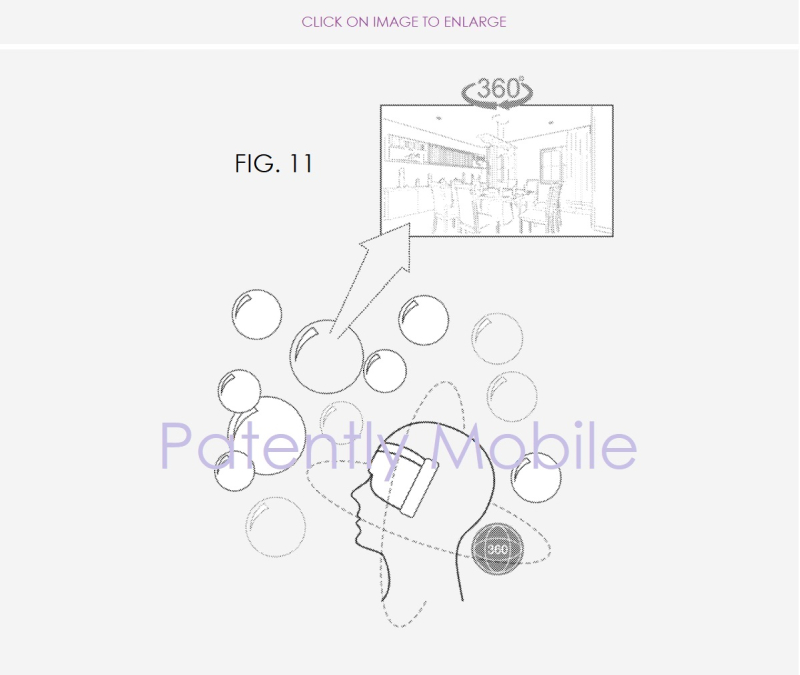 2 Samsung Bubble's UI for Headset  Smartphones and more  Patently Mobile IP blog report