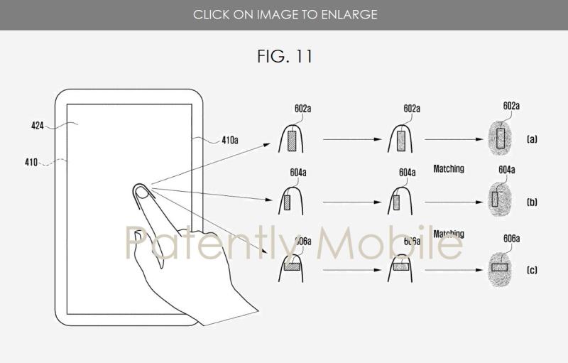3 Samsung fingerprint accuracy patent fig. 11