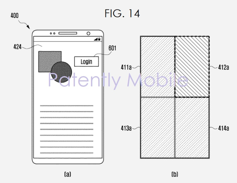 4 samsung patent fig. 14 fingerprint patent filing  Patently Mobile report