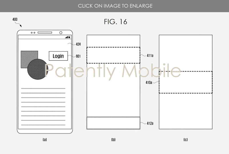 6 Samsung patent fig. 16 abc fingerprint system  aug 2018 - Patently Mobile report