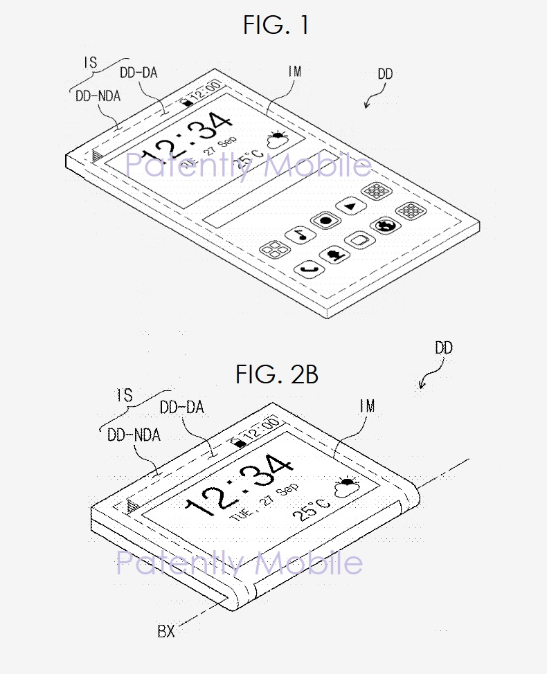 2 folding phone samsung patent figs 1 and 2b