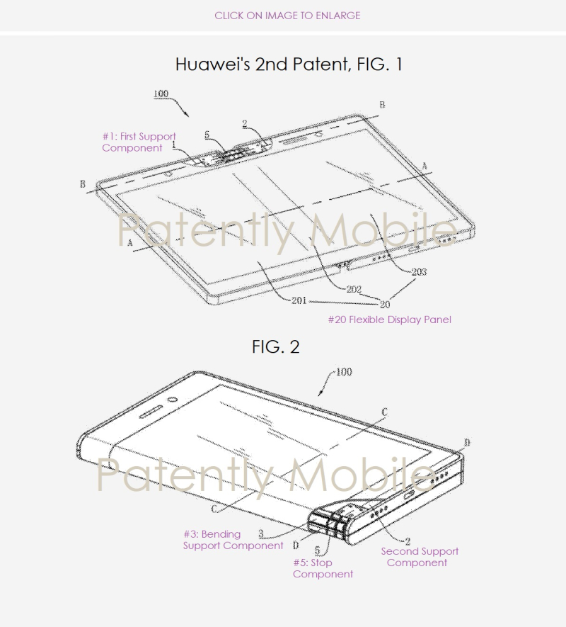 4 Huawei patent figs 1 & 2   second folding smartphone patent
