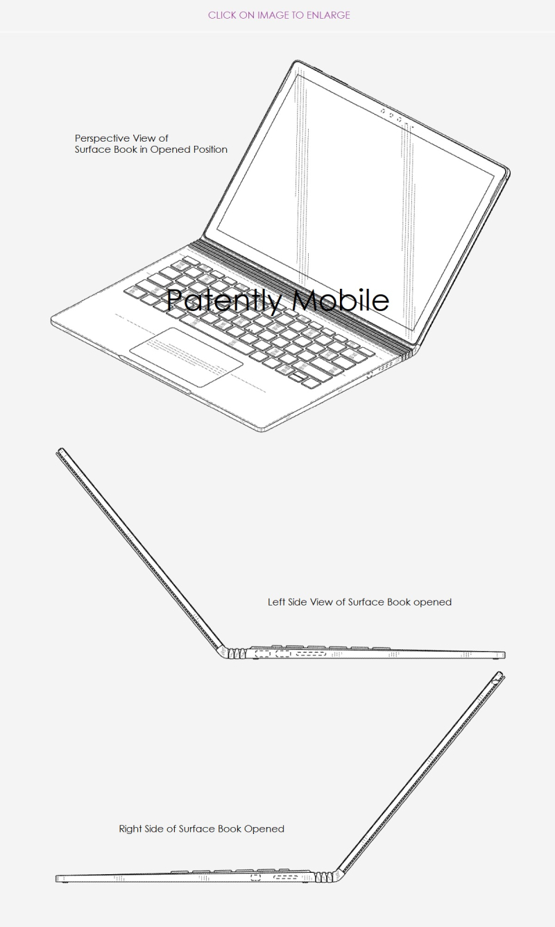 2 Microsoft wins Surface Book design patent nov 2018 - Patently Mobile report