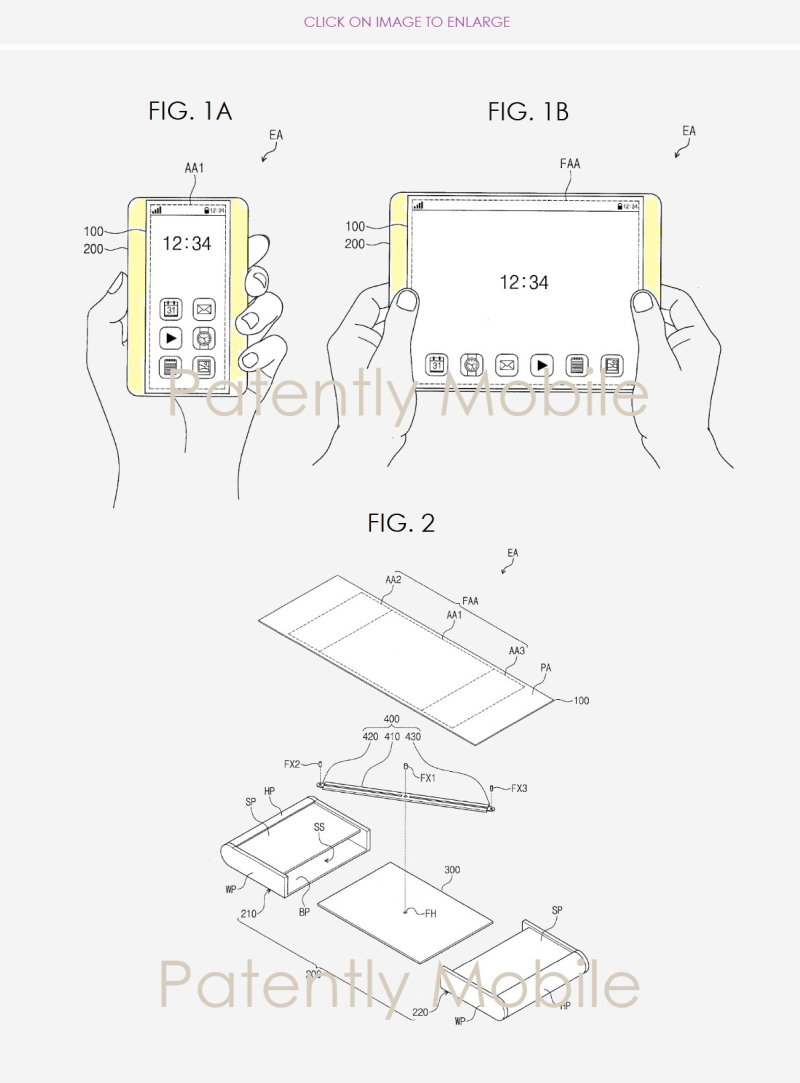 2 X Stretch out scroll out samsung patent