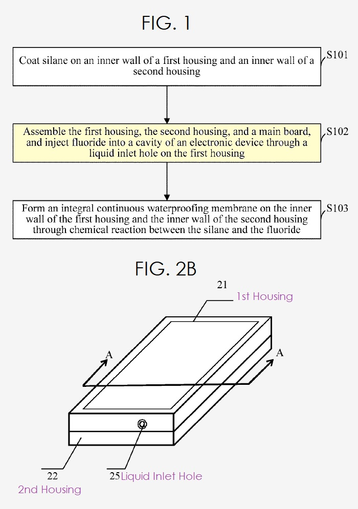 2 Huawei waterproofing patent figs 1 and 2b  patently mobile report