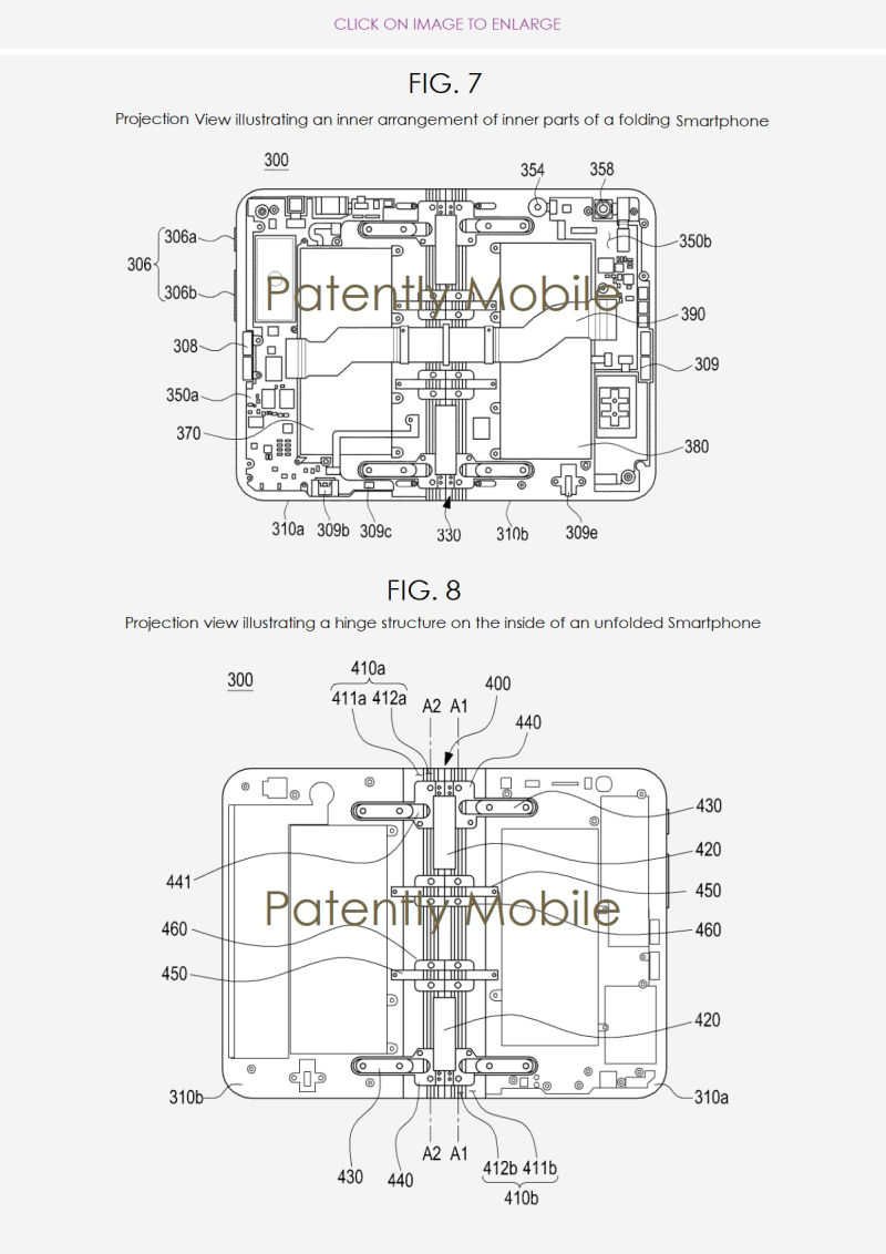 2 Samsung folding smartphone patent figs 2ABC nov 2018  patently mobile report