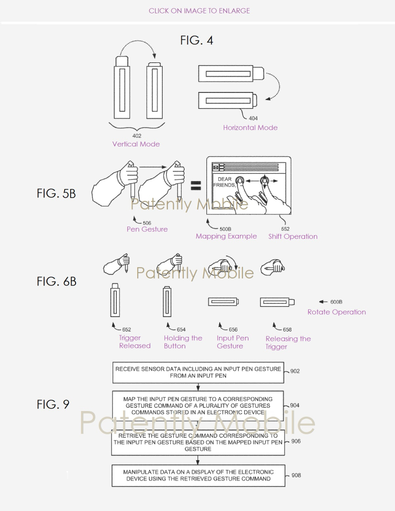 3 X HP PEN PATENT FIGS 4  5B  6B & 9  Patently Mobile Report Feb 8  2019