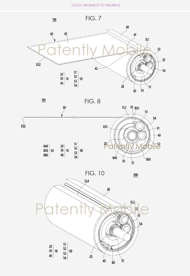 3 SAMSUNG SCROLLABLE DEVICE PATENT FIGS 7  8 & 10