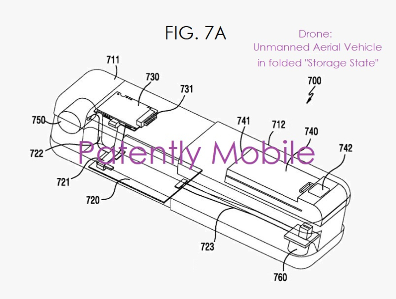 3 Drone foldable for storage - Samsung patent