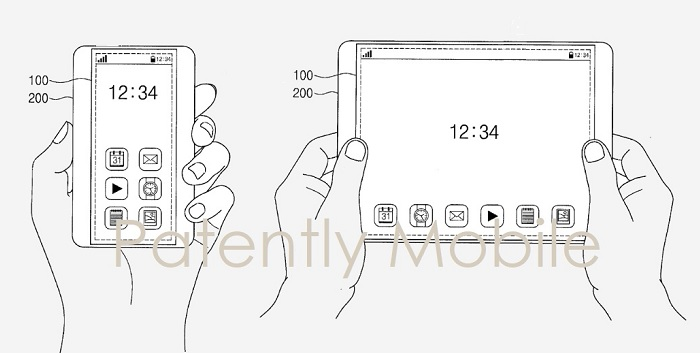 4 expandable display - other samung patent