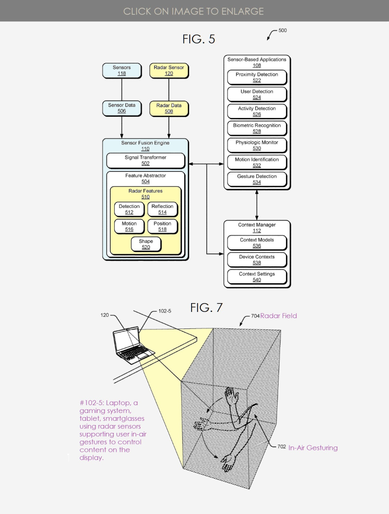 3 X Google granted Radar in-air gesturing patent. March 10  2019 Patently Mobile Report