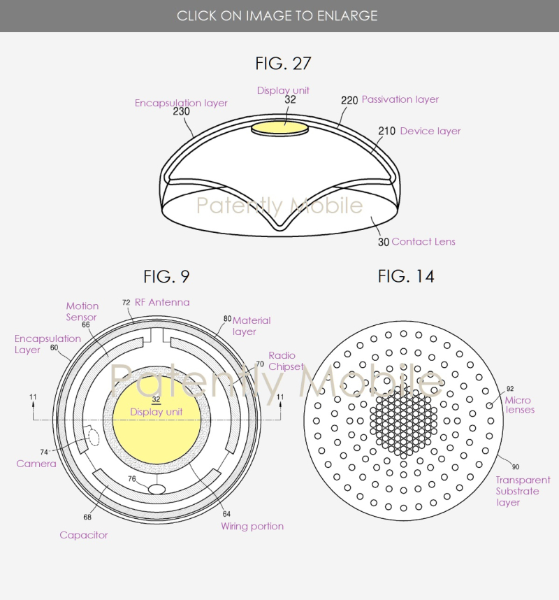 2 samsung AR contact lense invention