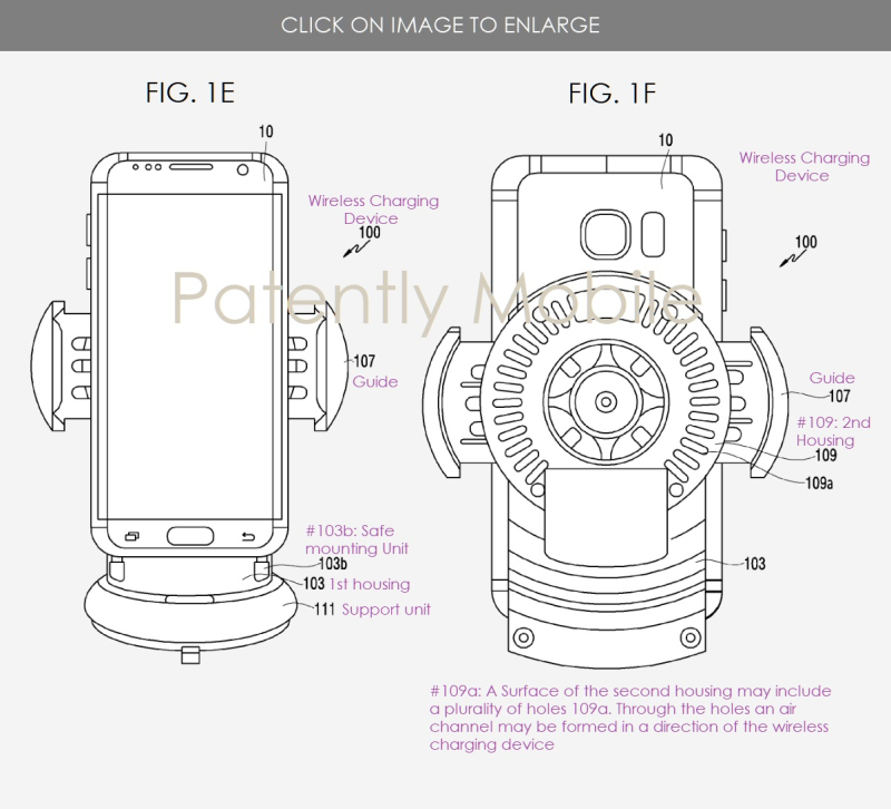 4 Wireless Charging Device - Samsung patent figs 1E and 1F