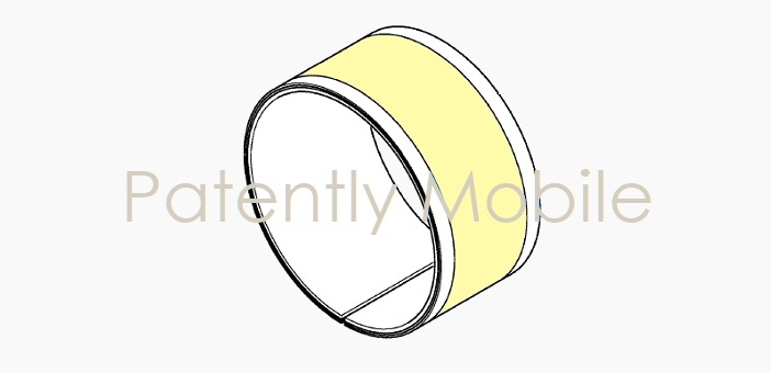 1 X Cover Samsung granted patent Bracelett device with Wraparound OLED displays - Patently Mobile IP report March 24  2019