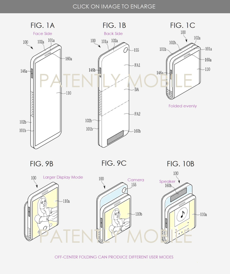 2 X2F - Samsung patent figures 1abc  9BC  10b