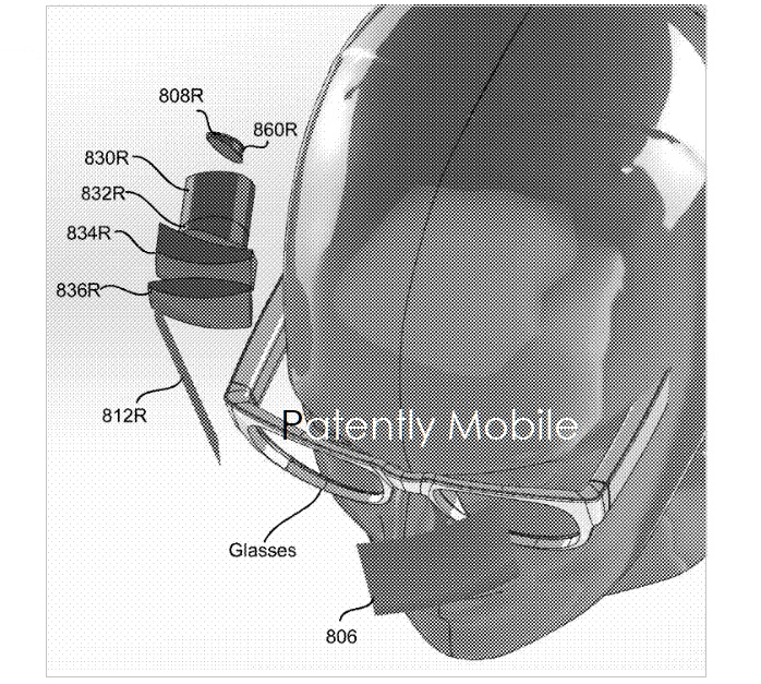 5 AR Visor to fit over prescription glasses  fig 8a  Patently Mobile IP report Apr 8  2019