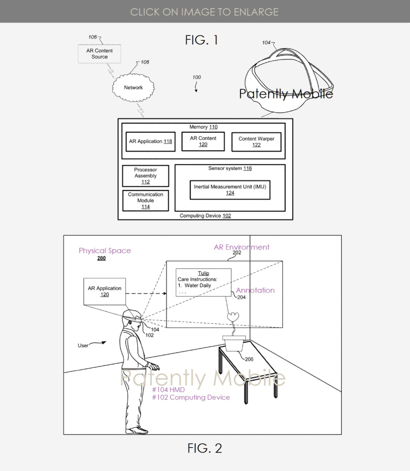 2 Google HMD invention figs 1 & 2  patent application IP report Patently Mobile April 8  2019