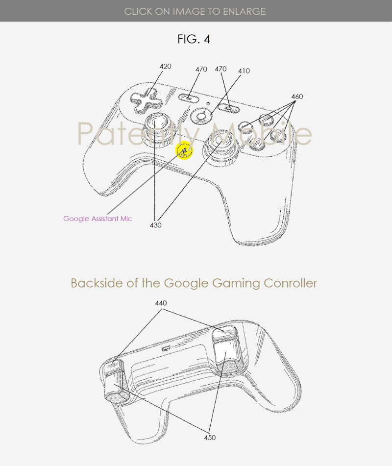 2 x Google online gaming controller with Google Assistant