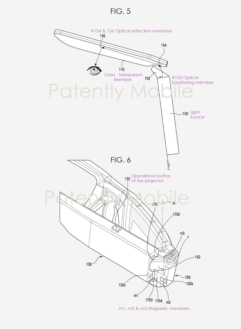 3 X AR Glasses  Samsung patent figs 1a and 1b