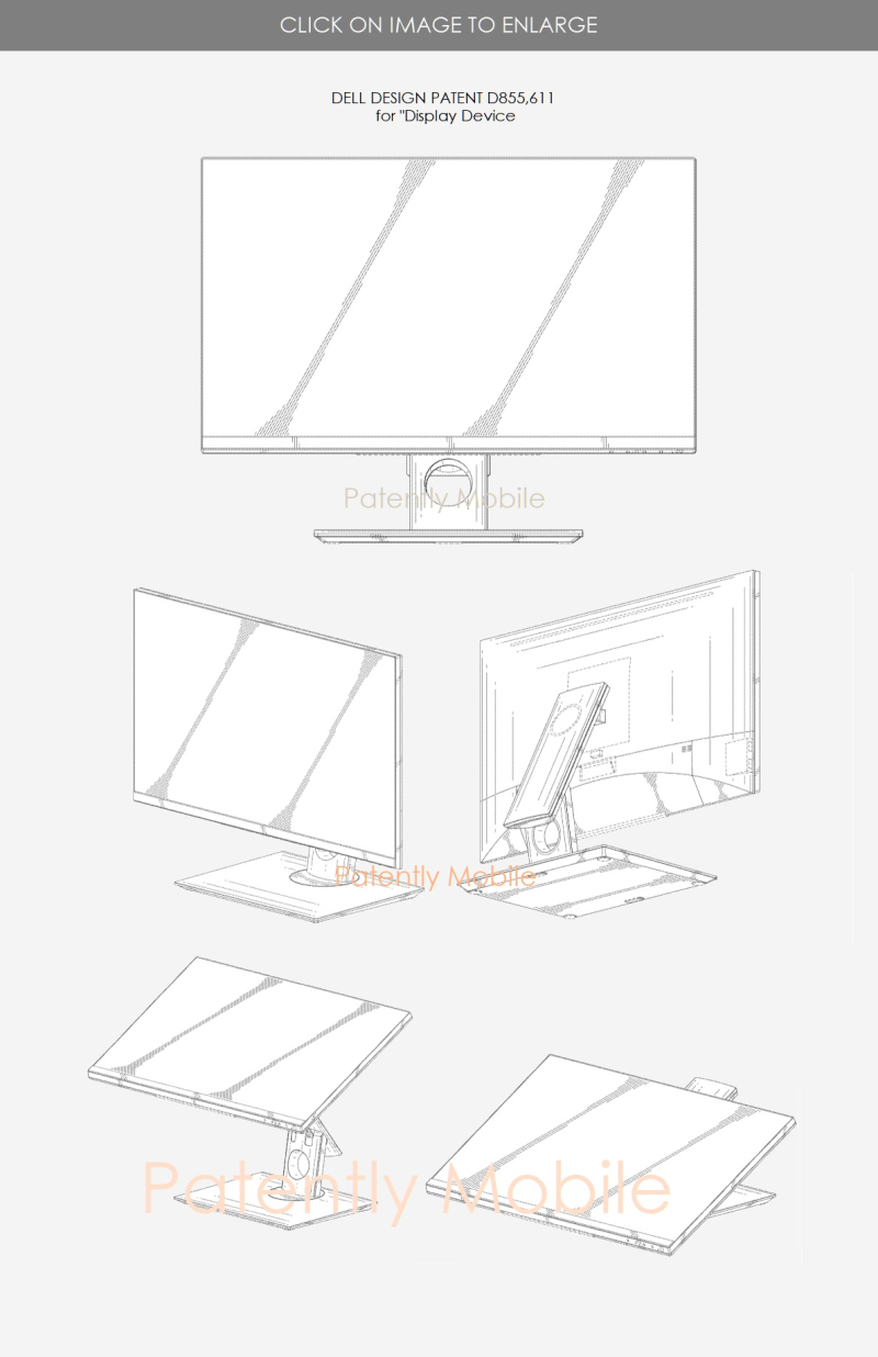 4 Design Patent  Dell  Display Device aug 6  2019 - patently mobile report