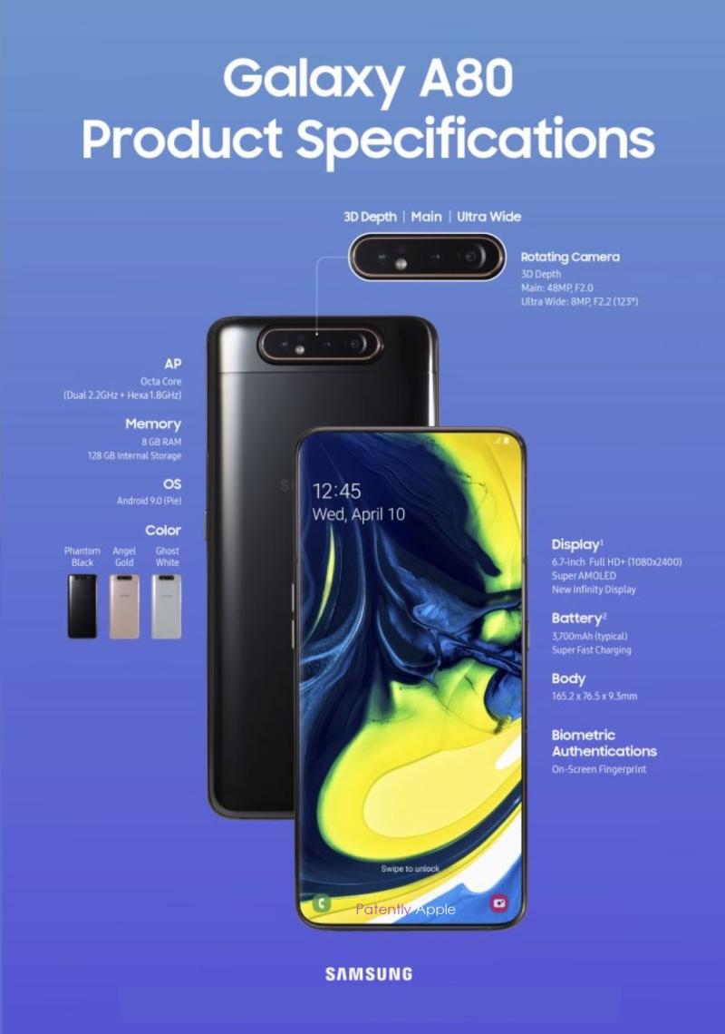2 X samsung A80 SLIDER FLIP CAMERA APR 10  2019  Patently Apple