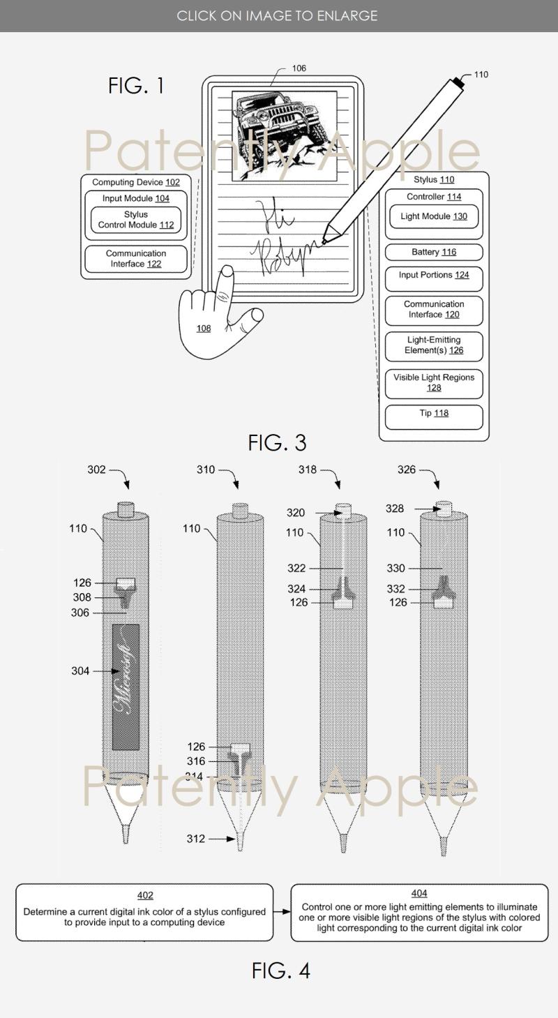 3 Microsoft patent for next-gen Surface Pen