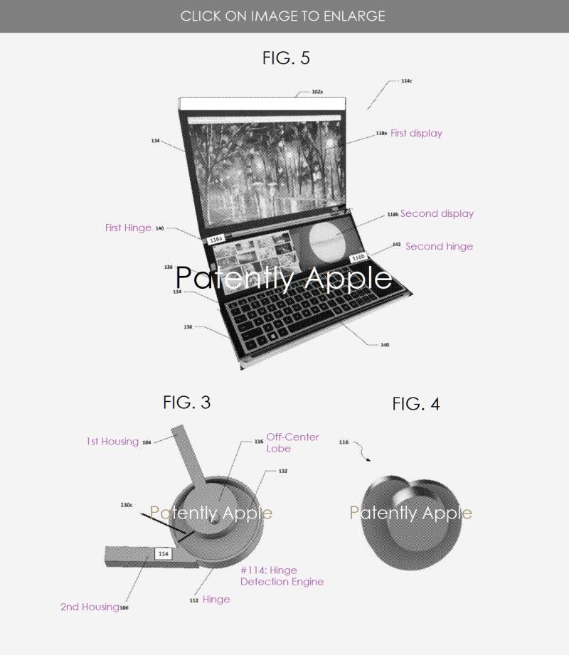 2 X Intel's Honeycomb Glacier hinge patent