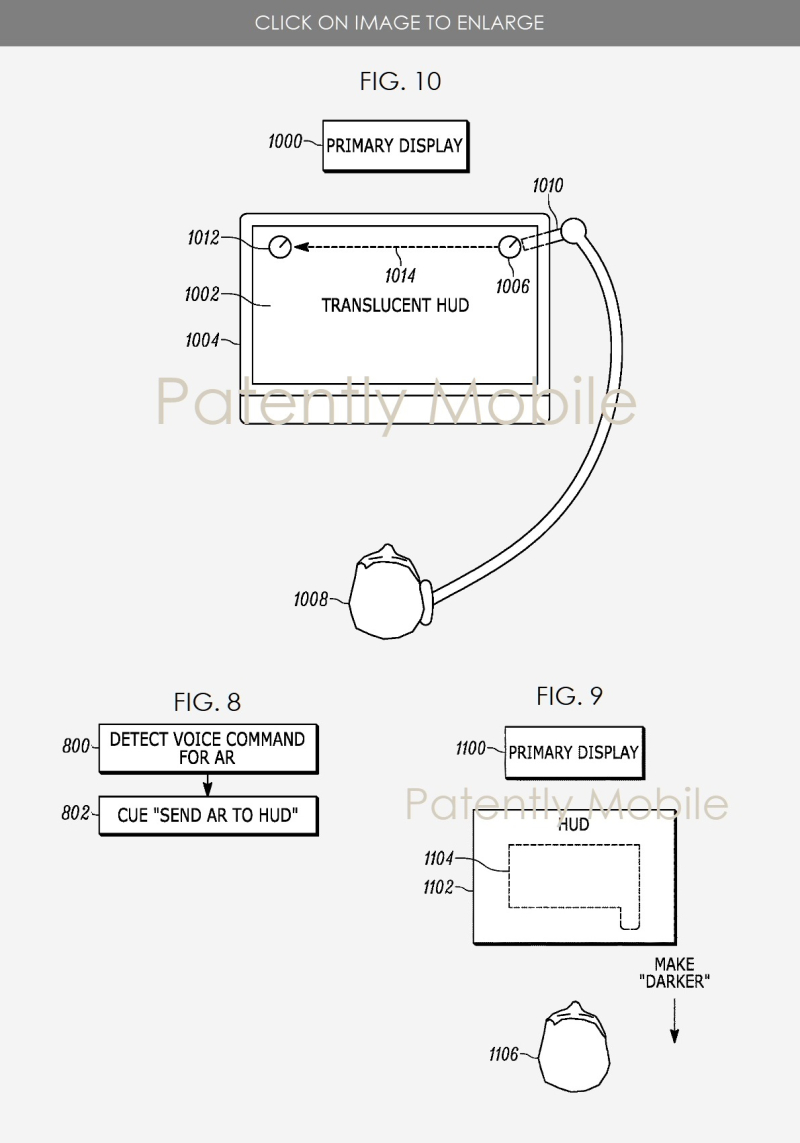 4 X SONY AR GAMING VISOR PATENT FIGS  10