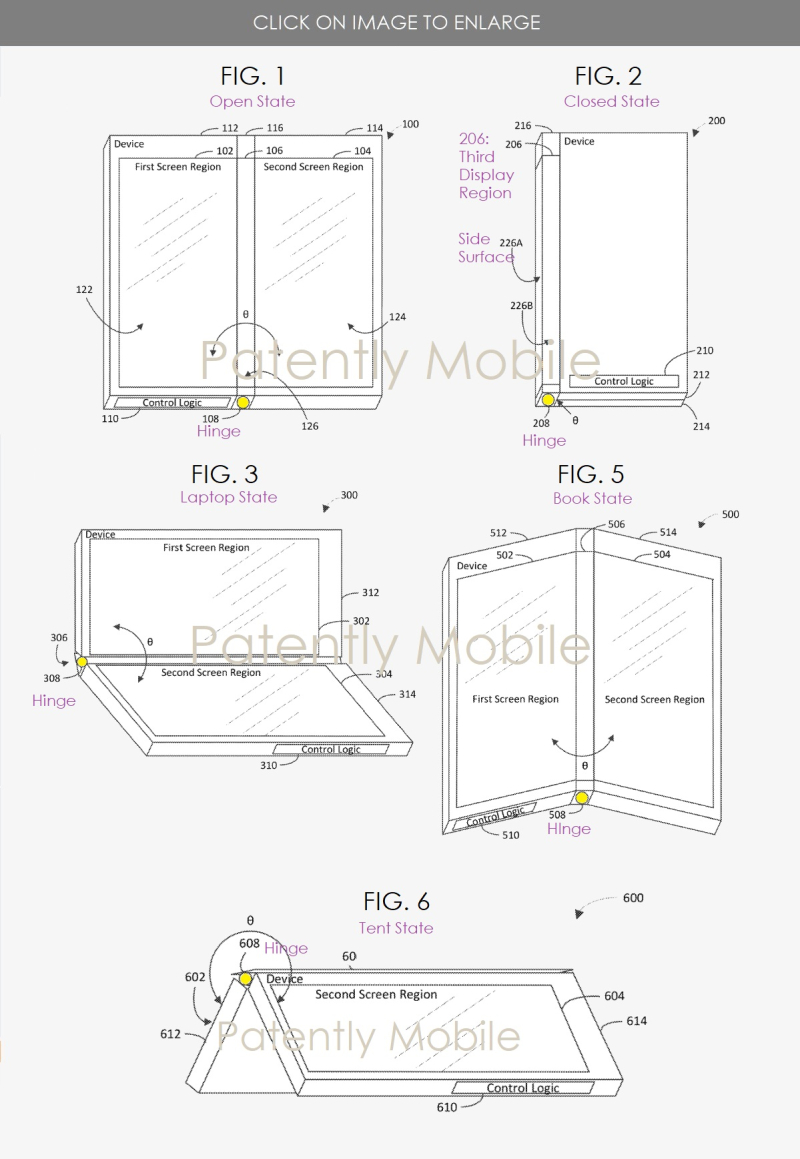 2 Microsoft Surface dual display patent - The STATES