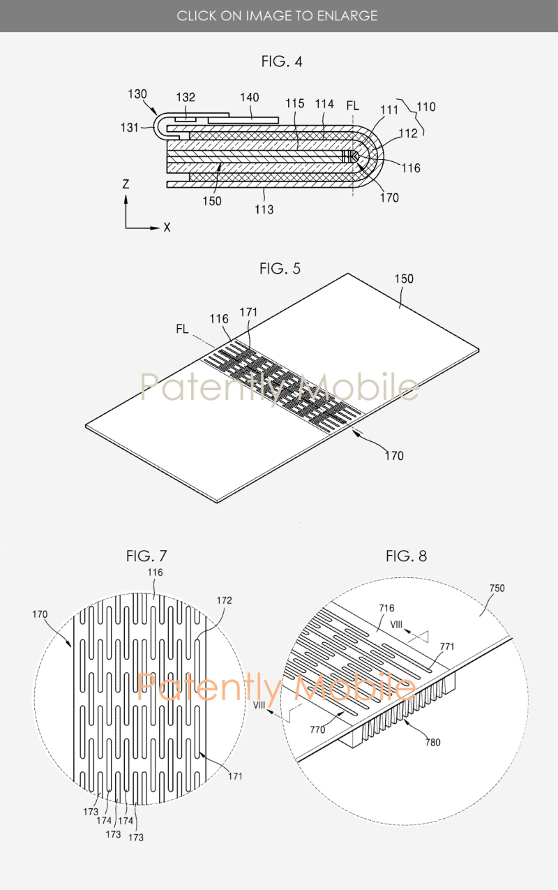 3 new foldable phone flex spine utility patent design
