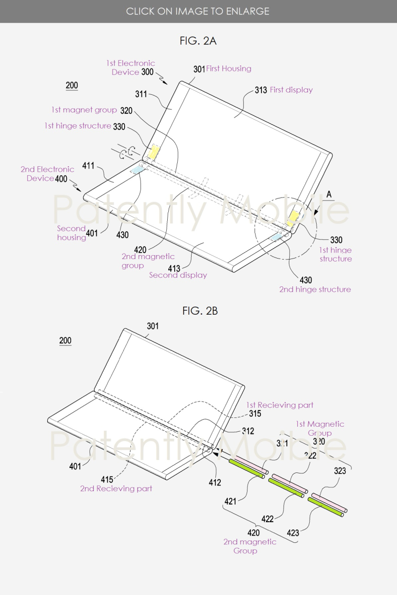 4 samsung hidden hinge in dual display smartphone