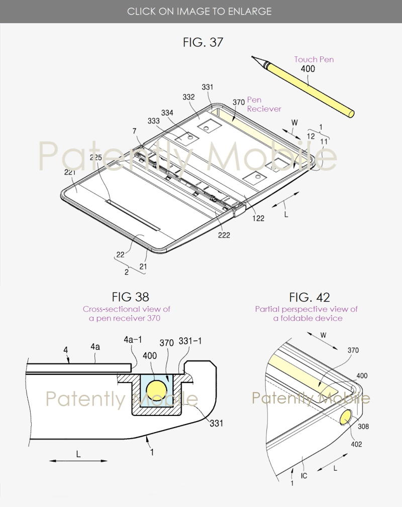 2 x Samsung wins patent for a Future  Foldable version of Galaxy Note