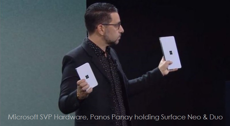 1 x Cover Panos Panay  Surface Duo and Surface Neo devices